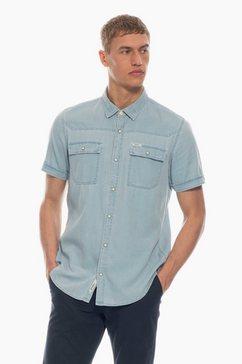 garcia overhemd blauw