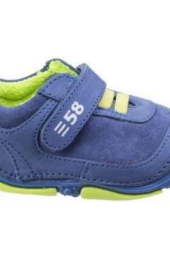hush puppies klittenbandschoenen »kinder - jungen leder-sneaker harry mit klettverschluss« blauw