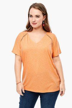 triangle basic shirt van slubgaren oranje