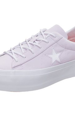 converse sneakers »cons one star platform« paars