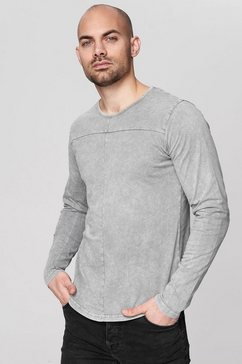trueprodigy shirt met lange mouwen »premium basic ronin« grijs