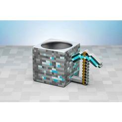paladone »minecraft pickaxe becher« mok grijs