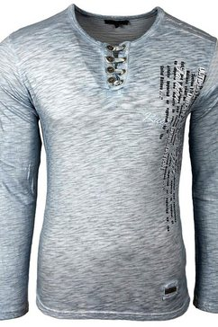 rusty neal shirt »a1-rn-10139« blauw