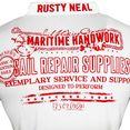 rusty neal t-shirt wit