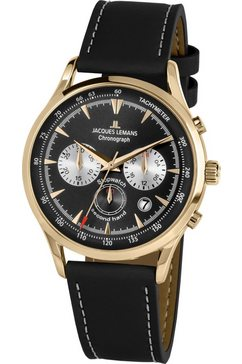 jacques lemans chronograaf »retro classic, 1-2068i« zwart