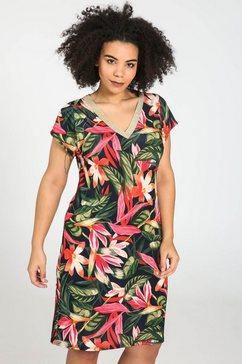 paprika jurk met print »v-hals met bloemen« multicolor