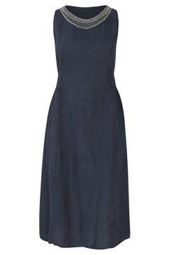 paprika maxi-jurk »rundhals uniform« blauw