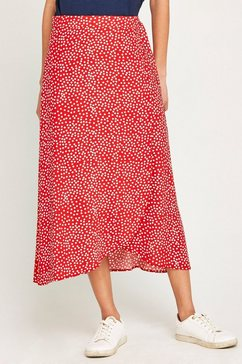 apricot wikkelrok »scattered dots tie wrap skirt« rood