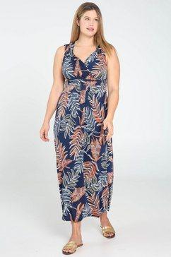 paprika maxi-jurk »v-ausschnitt gebluemt« blauw