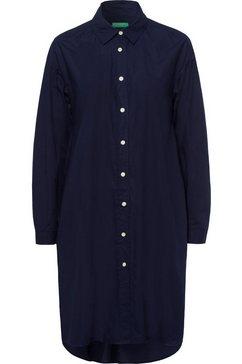 united colors of benetton jurk met overhemdkraag blauw