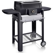 severin »sevo gts pg 8107« staande barbecue zwart