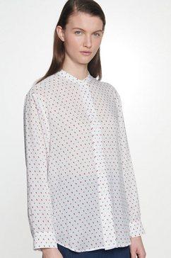 seidensticker klassieke blouse »schwarze rose« beige