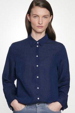 seidensticker overhemdblouse »schwarze rose« blauw