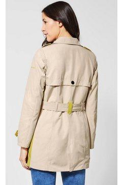 street one trenchcoat (met een afneembare riem) beige
