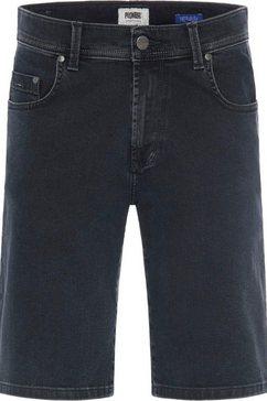 pioneer authentic jeans jeansbermuda blauw