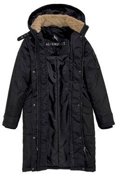 alpenblitz winterjas »parka« zwart