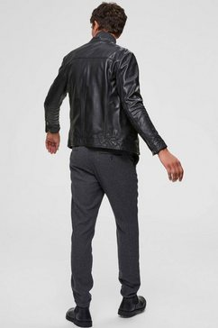 selected homme leren jack »classic leather jacket« zwart