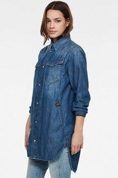 g-star raw jeansblouse »tacoma boyfriend hemd« blauw