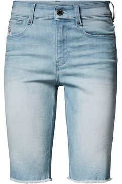 g-star raw jeansbermuda »4311 noxer high slim short« blauw