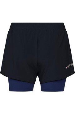 """tommy sport sportbroek »3"""" 2-in 1 woven short lbr« blauw"""
