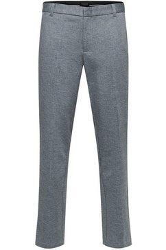 selected homme pantalon »slim-jersey flex pants« grijs