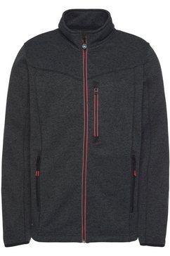 polarino tricot-fleecejack zwart