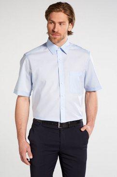 eterna korte arm hemd »comfort fit popeline uni« blauw