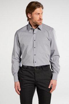 eterna lange arm hemd »comfort fit chambray uni« grijs