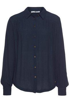 ajc blouse met lange mouwen blauw