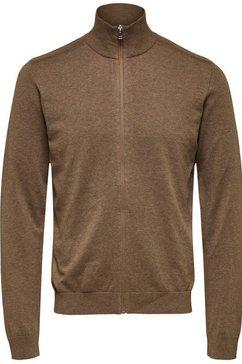 selected homme cardigan »berg full zip cardigan« beige