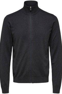 selected homme cardigan »berg full zip cardigan« grijs