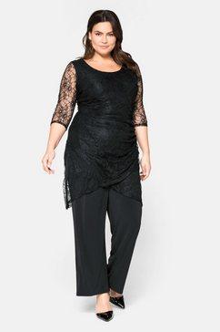 sheego style jumpsuit zwart