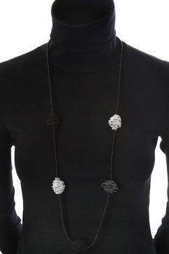 j jayz lange ketting »schwarz und silberfarben im trendigen wechsel« zwart