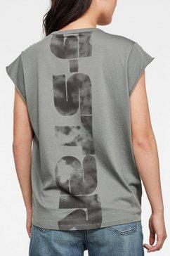 g-star raw t-shirt »gyre knot« grijs