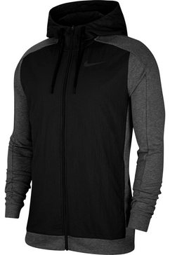 nike sweatvest »fleece full-zip training hoodie« grijs
