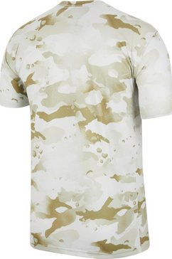nike trainingsshirt »dry tee leg camo aop« beige