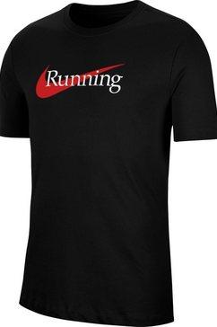 nike runningshirt »nike dry tee« zwart
