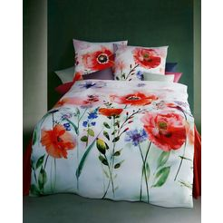 kaeppel overtrekset »blooming meadow«, kaeppel rood