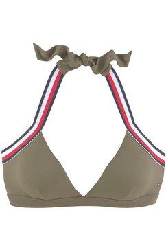 tommy hilfiger triangel-bikinitop »tape« groen
