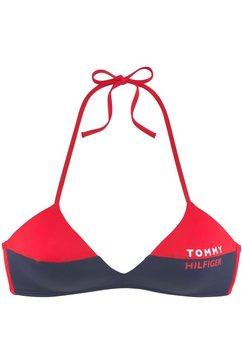 tommy hilfiger triangel-bikinitop »block« rood