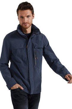 tom tailor outdoorjack met afneembare capuchon blauw