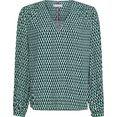 tommy hilfiger blouse zonder sluiting viscose poplin blouse ls met all-over graphic-print groen
