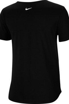 nike runningshirt »women's running top« zwart