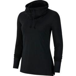 nike yogashirt »yoga core essential jersey cover up« zwart
