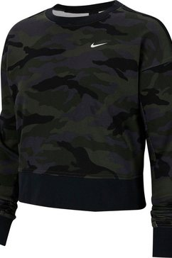 nike sweatshirt »nike dry get fit fleece crew« zwart