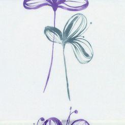 kloeckner paneelgordijn »dekor flower«, klittenband 1 stuk wit