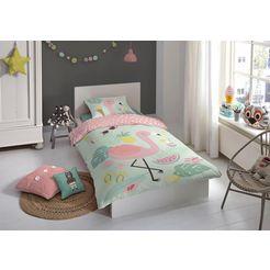 good morning kinderovertrekset »flamingo« multicolor