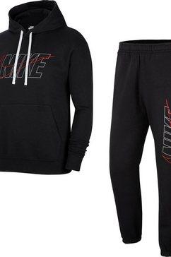 nike joggingpak »track suit hoodie fleece« zwart