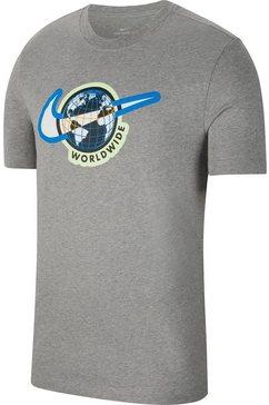 nike t-shirt »shortsleeves tee swoosh worldwide« grijs