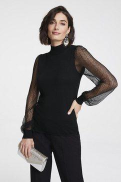 trui met transparante mouwen zwart